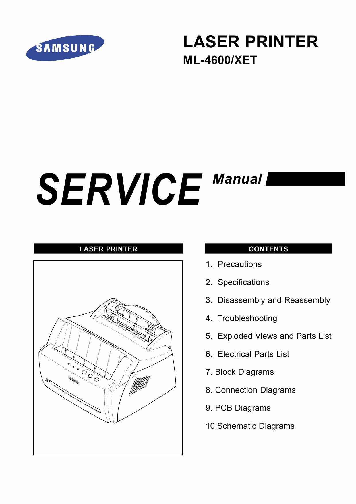 Samsung Laser-Printer ML-4600 Parts and Service Manual-1